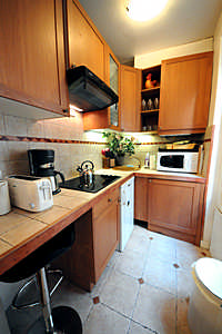 Paris apartment kitchen: 6th arrondissement rue des Chartreux; Luxembourg Gardens